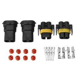 $enCountryForm.capitalKeyWord Australia - 2Pair H8 H9 H11 880 881 Female And Male Adapter Harness Car Auto Wire Connectors For HID Xenon Light Socket Plug