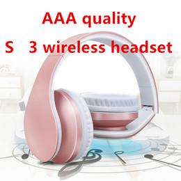 A ++++ Calidad 3.0 inalámbrico de auriculares estéreo de auriculares con micrófono Auriculares Bluetooth ayuda del auricular TF para el iPhone Samsung mayorista en venta
