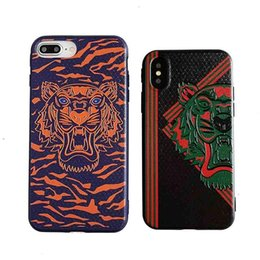 Nextel Battery Australia - Cool Fashion Phone Case for IphoneXSMAX XR XS 7Plus 8Plus 7 8 6s 6sp6 6s Tiger Style Protective Back Cover Phone Case 2 Styles