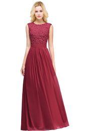 $enCountryForm.capitalKeyWord UK - Wedding Party Events Bridesmaids Formal Dresses lace chiffon sleeveless jewel zipper four clours outdoor