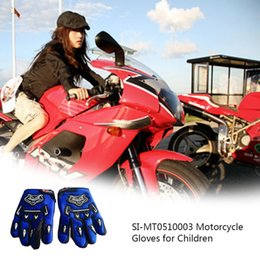 Bicycle Off Road Australia - Children Kids Outdoor Sport Gloves Full Finger Riding Gloves Off-Road Bicycle Motorcycle Breathable Grid Leisure Glove