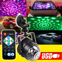 $enCountryForm.capitalKeyWord Australia - 5V USB Stage Effect Light IR Remote RGB LED Crystal Magic Rotating Ball Lights Colorful for Party KTV DJ Disco Car Home Club