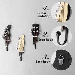 $enCountryForm.capitalKeyWord Australia - 3pcs set Vintage Movie Wall Guitar Music Mounted Hooks Clothes Key Wall Hanger Hooks Decorative Hook for Home Decoration