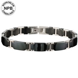 power beads bracelets Australia - Noproblem 065 3000 ions balance ceramic beads power therapy choker punk fitness tourmaline germanium charms men's bracelet SH190925