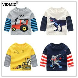 3bebc3787ae1 wholesale Baby Boys T-shirts Autumn Long Sleeve Cartoon Truck Pattern Sport  T-shirts for Kids Children boy clothing 4066
