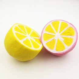 $enCountryForm.capitalKeyWord Australia - Lemon squishy toy Candy color Jumbo Lemon toys Slow Rising Squishy Squeeze Toy Novelty Reduce Pressure Toys Kids Adult Relax bauble CLS575