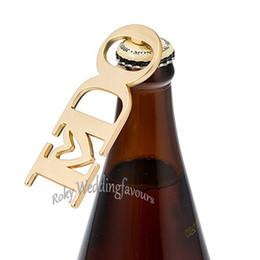 $enCountryForm.capitalKeyWord UK - 20PCS Gold I DO Bottle Opener Wedding Favor Bridal Shower Engagement Party Giveaways Anniversary Keepsake Beer Cap Opener Supplies