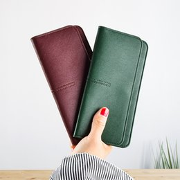 $enCountryForm.capitalKeyWord UK - Long Women Wallets Clutch Super Slim Purses Ladies Thin Wallet 5 Color Green Black Pink Gray Red Purse For Girls Female
