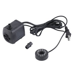 fish aquarium water pump UK - 2017 Submersible Water Pump With 12 LED lights 600L   H 10 W For Aquarium Fish Tank Pond Fountain 220-240V US Plug New Arrival