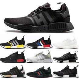 928b3fd79 Wholesale NMD R1 Primeknit Top Quality Running Shoes Classic Color Mesh  Triple White Cream Salmon Athletics Sneakers US 5-11.5 With Box