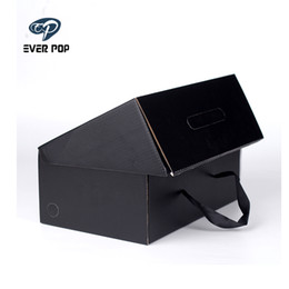 earthing shoes 2019 - Environmentally Friendly Kraft Paper Gift Box Custom High Quality Logo Packing Box Corrugated Board Portable Rope Wig Sh
