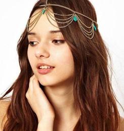 $enCountryForm.capitalKeyWord Australia - Cheap Hot Fashion Bohemian Women Metal Head Chain Headbands Hair Jewelry Forehead Dance Headband Piece Wedding Accessories Hippie Crown