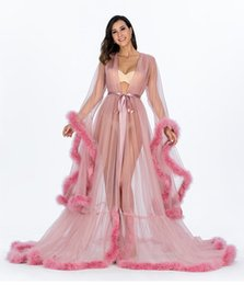 $enCountryForm.capitalKeyWord UK - Vestido de festa Feather Bridal Wraps Long Sleeve Tulle Party Evening Dresses Sexy Burgundy Formal prom dress Gown Women Jackets Plus size