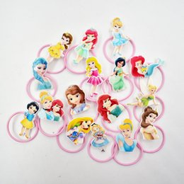 Discount cute hairstyles - Girl Hair Jewelry Resin Princess Charm Elastic Hair Bands Hairstyle Holder Resilience Rubber Band Planar Cute Jewelry