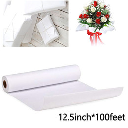 $enCountryForm.capitalKeyWord Australia - 12.5inch*100feet White Kraft Paper Ideal for Gift Wrapping, Art,Craft,Packing,Shipping,Covering,Writing Roll Stationery Paper