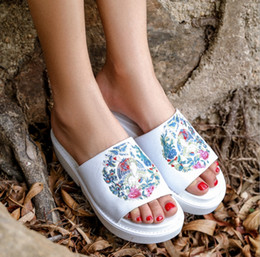 $enCountryForm.capitalKeyWord Canada - National wind embroidered sandals female new 2019 sponge cake with fish mouth ladies sandals and slippers thick bottom trend shoes