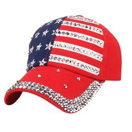 $enCountryForm.capitalKeyWord Australia - Trump 2020 Rivet Caps President Hats Make America Great Diamond Bling Star Flag Baseball Ball Cap Travel Beach Sun Hat Snapbacks GGA2337