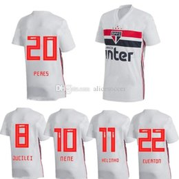 Chinese  2019 20 soccer jersey sao paulo white home fans custom name number Top quality soccer uniform football jersey clothing away red manufacturers