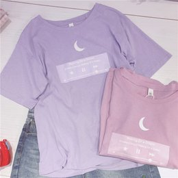 Formal Tops For Women NZ - 2018 Japanese Tshirt Moon Women Best Friends T Shirt Pink Purple Cute Top For Teenager Colleage Girls Style 2xl Plus Size FemaleY19042002