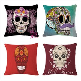 Human Oil Painting Australia - Oil Painting Human Skeleton Cotton Flax Pillow Back Cushion Foreign Trade Heat Sell