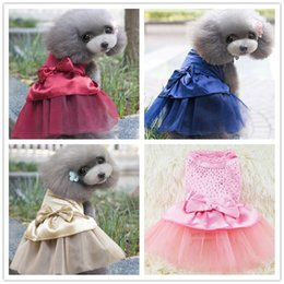 female dresses Canada - Spring and summer new cute dog clothes skirt pet supplies hot diamond love dress skirt pet clothing