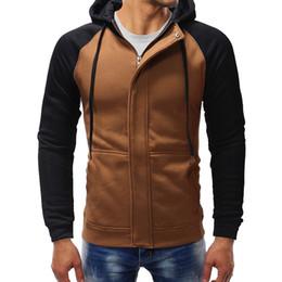 $enCountryForm.capitalKeyWord NZ - Jacket Dark Door Men's spring and autumn Casual Slim Zip Cardigan Hoodie Large Size S-XXXL Sling String contrast Sweatshirt