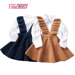 Wholesale school uniforms clothing for sale - Group buy 2 Yrs Autumn Baby Girls Dress Fashion Girl Clothing Knit Sweater Kids Dresses for Girls Solid Sleeveless School Uniform Vestido