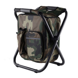 chair backpacks UK - Folding Famous Portable Fishing Chair Brand Fishing Backpack Chair Stool Convenient Wear-resistantv for Outdoor Hunting Climbing Equipment