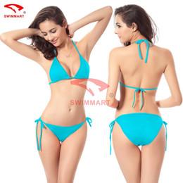Wholesale blue bikinis for sale for sale – plus size Women swimsuit bikini swimsuit sexy candy color Fashion swimwear bikini swimsuit Cheap sport online shopping store for sale flexible stylish