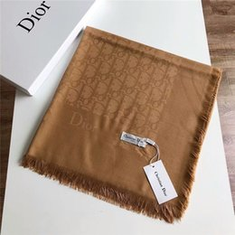 $enCountryForm.capitalKeyWord Australia - 2019 winter scarf brand designer super soft pure cotton yarn-dyed jacquard wool scarf square shawl 140*140cm