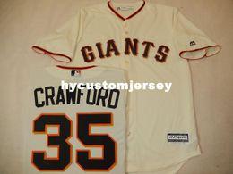 $enCountryForm.capitalKeyWord Australia - Cheap custom MENS MAJESTIC #35 BRANDON CRAWFORD Baseball JERSEY CREME Mens stitched jerseys Big And Tall SIZE XS-6XL For sale