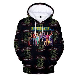 Riverdale à capuche Sweat Plus Size South Side Serpents Streetwear Hauts Pulls à capuche Printemps Hommes Femmes pull avec capuche Survêtement