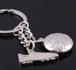 Metal Sneakers Australia - Creative Stereoscopic Football Sneakers Soccer Ball Key Chain Alloy Metal Key Ring Keychain Russia 2018 World Cup Accessories Ornaments Gift