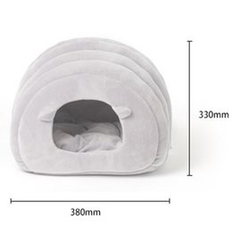 kennels pens Australia - New Cat And Dog Pet Bed Pp Cotton Bed House Small And Medium Dogs Soft Warm Bed Room Pet Nest kennels pens