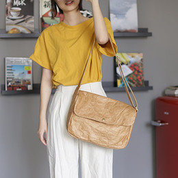 Soft White Paper Australia - 2019 new style high quality Double transparent handbags kraft paper Crossbody bags Cover Casual Tote bag