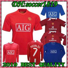 7d942eee8f3 2006 2007 2008 United Retro UCL final match manutd home shorts sleeves  Jersey RONALDO 07 08 shirt long sleeve football shirts