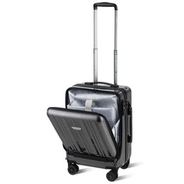 3cb86e41e Front Pocket Luggage Business Trolley Suitcase with TSA Locks Carry on Spinner  Wheels Travel Luggage New Trip Package