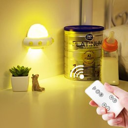 ufo sensor NZ - Usb Charging Ufo Remote Night Light Bedroom Bedside Led Sensor Light New Strange Children S Night Light Atmosphere Lamp 1 Pc