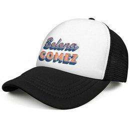Селена Гомес Имя Логотип черный Мужские и женские на заказ snapback Шляпы водителя грузовика Дизайнерская модная сетчатая кепка Прочные кепки дальнобойщика