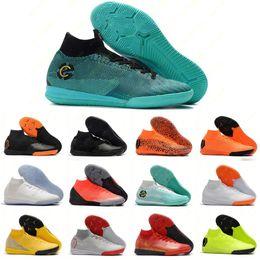 Discount cr7 soccer shoes - Mens Women Mercurial SuperflyX VI 360 Elite TF IN IC 6 VI Superfly Soccer Shoes CR7 Ronaldo Neymar NJR Football Boots Cl