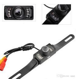 Nova À Prova D 'Água Longa Placa de Licença Quadro Cor CMOS Câmera de Visão Traseira Do Carro Para Câmera de Estacionamento Reversa Com 7 LED IR Noite Vison em Promoção
