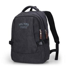 Ladies Laptop rucksack online shopping - Crazy2019 Canvas Backpack Vintage Canvas Laptop Men s Backpack School Bag Rucksack Daypack ME0568