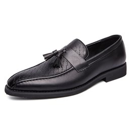 $enCountryForm.capitalKeyWord Australia - New Men Genuine Cowhide Shoes Stylish Tassel Dress Shoe for Casual Wedding Wearing Italian Design Casual Business Shoe SH101265