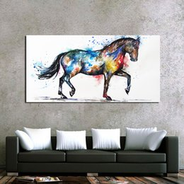 landscape fine art painting UK - 1 Panel Steed Fine Horse Animals Canvas Painting Print Painting On Canvas Wall Art Modular Pictures For Living Room Home Decor