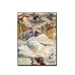 $enCountryForm.capitalKeyWord Australia - Beautiful art Modern gilding mountains landscape wall art home decor Hand-painted Abstract Oil Painting on canvas for living room no framed
