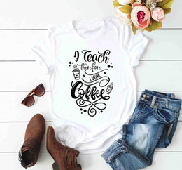 funny drinking shirts women Australia - I Teach Therefore I Drink Coffee Shirt Funny Teacher T-shirt women fashion graphic grunge aesthetic tumblr tee quote top -J801