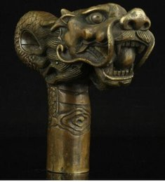 $enCountryForm.capitalKeyWord Australia - 671115909*++China Old Handwork Carving Bronze Dragon Statue Cane Head Walking Stick