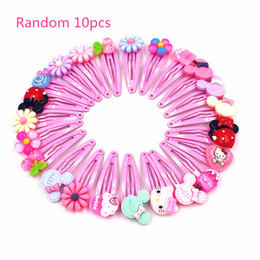 52577be2b 10Pcs Hello Kitty Colorful Flower Fruit Cartoon Hairpins Lovely Hair clips  Kids Girls Hair Accessories Headwear Party Gift