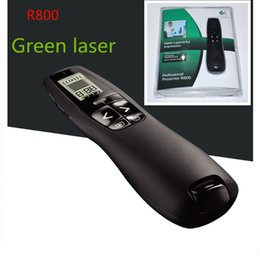 wireless powerpoint presenter pointer Australia - R800 Wireless Professional Presenter Remote Control with 5MW 532NM Green Laser Pointer,2.4GHz Wireless USB PowerPoint PPT Clicker