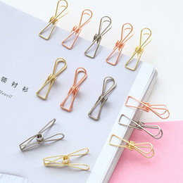 $enCountryForm.capitalKeyWord Australia - 2019 6 pcs lot Cute Fish Clip Hollow Out Metal Binder Clips Notes Letter Paper Office Supplies